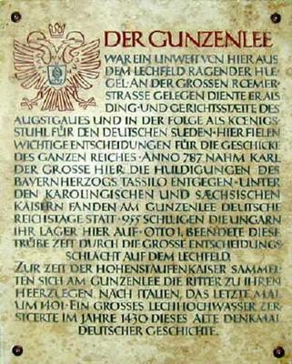 Der Gunzenlee als Thing- und Gerichtsstätte Karl der Große 787 Deutsche Reichstage
