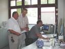 Mitarbeiter im Rathaus