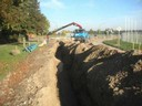 Arbeiten für die Kanal- und Wasserleitungen