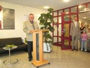 Herr Langhans hält die Eröffnungsansprache