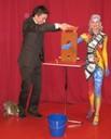 Eine super Show veranstaltete der Zauberer