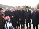 Der Bürgermeister von Mering, Landrat Knauer und Kissings 1. Bürgermeister