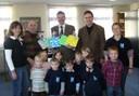 Kinder bedanken sich beim Bürgermeister am 12.02.2008