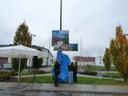 """Enthüllung des Bildes """"Paarkunst 2010"""" durch Bürgermeister Wolf"""