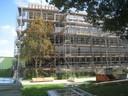 Die neue Fassade der Schule