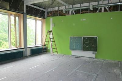 bekommen die Klassenzimmer in der Mittelschule um eine gute Lernatmosphäre für die Schüler zu schaffen