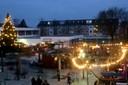 Ein Blick über den Weihnachtsmarkt