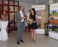 Bürgermeister Manfred Wolf eröffnete am 6. August die Ausstellung.
