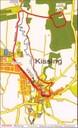 """Karte des Hiaslwanderwegs erstellt durch den Historischen Förderverein """"Bayerischer Hiasl"""" Kissing e. V."""